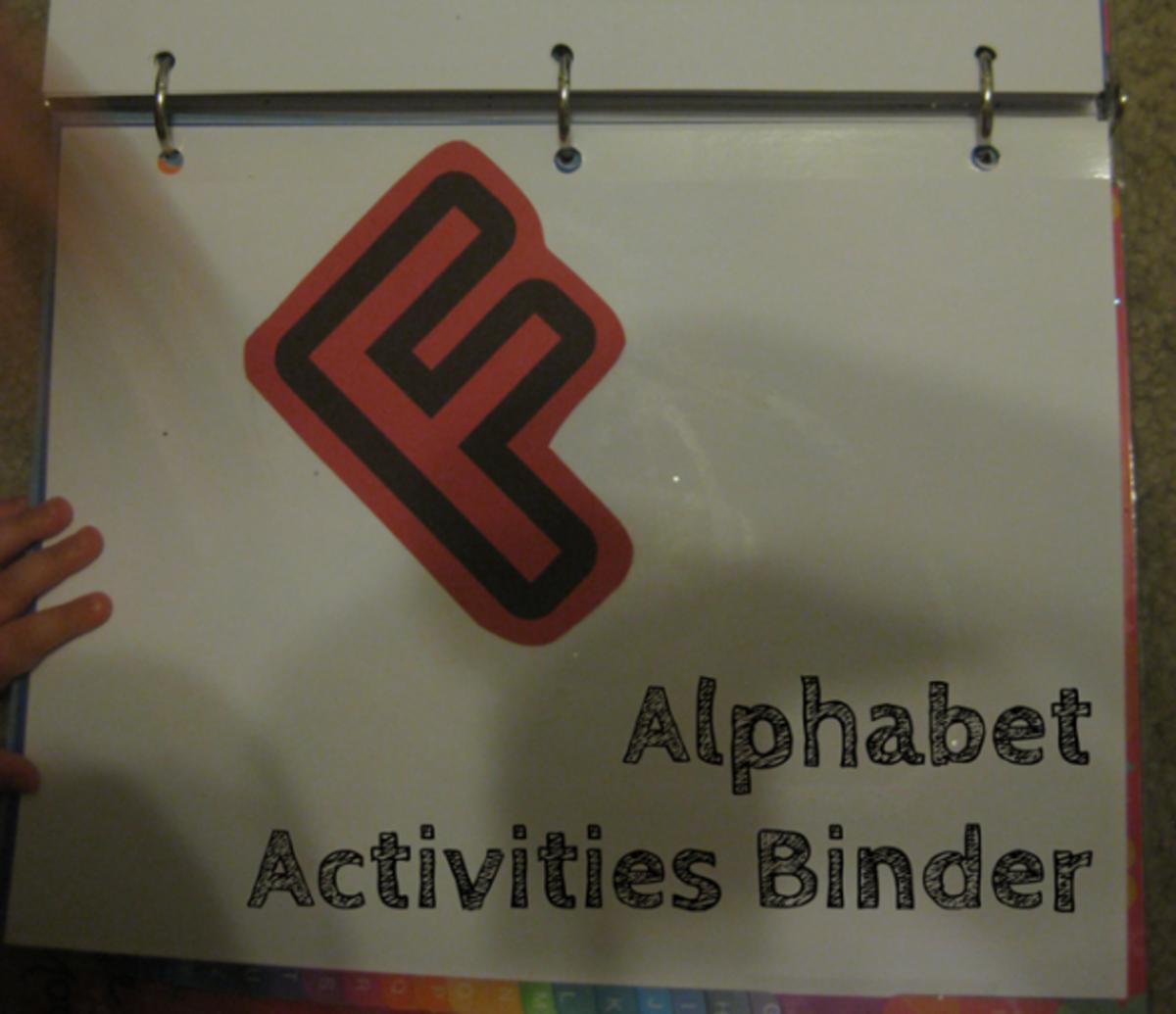 letter f alphabet activities binder