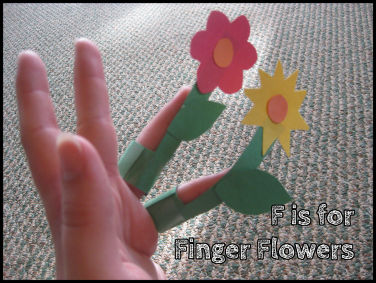 F is for Finger Flowers