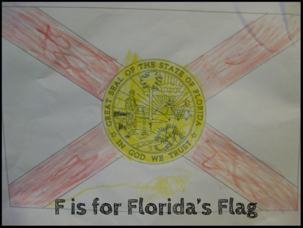 f is for florida flag alphabet activities for kids