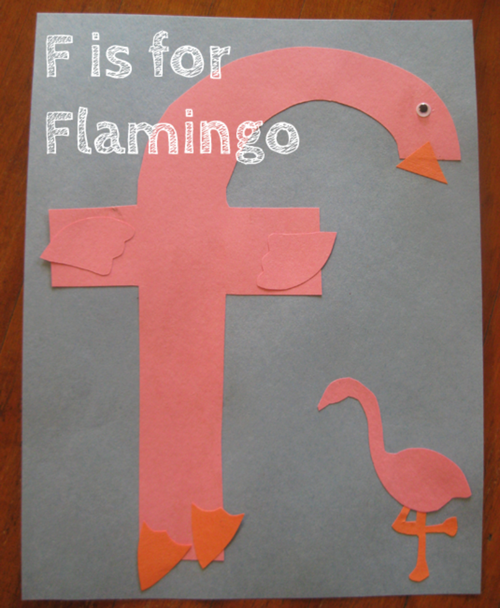 F is for flamingos alphabet activities for kids