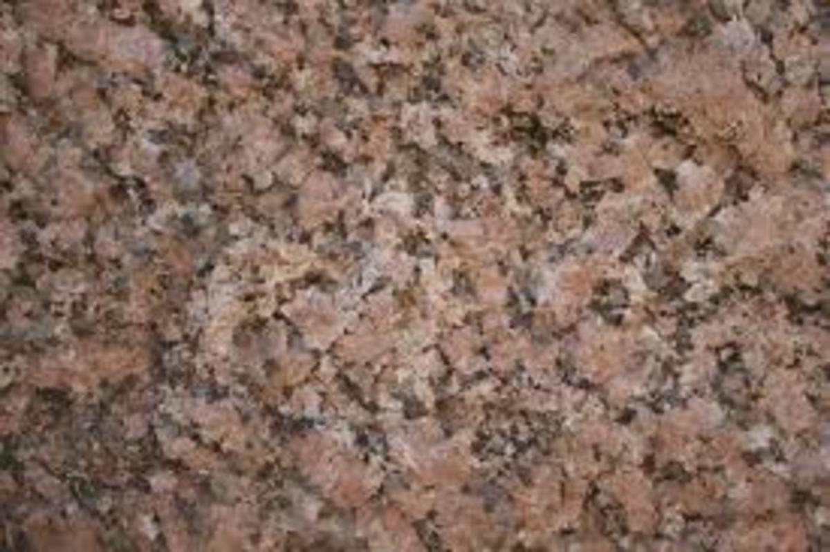 Pink Granite in a slab for a kitchen