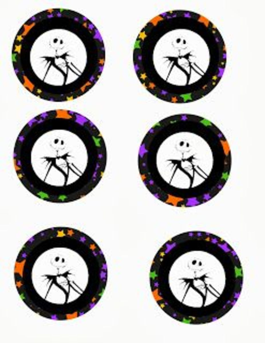 Free Nightmare before Christmas cupcake toppers