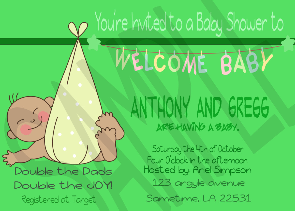 Same Sex Baby Shower Invitations