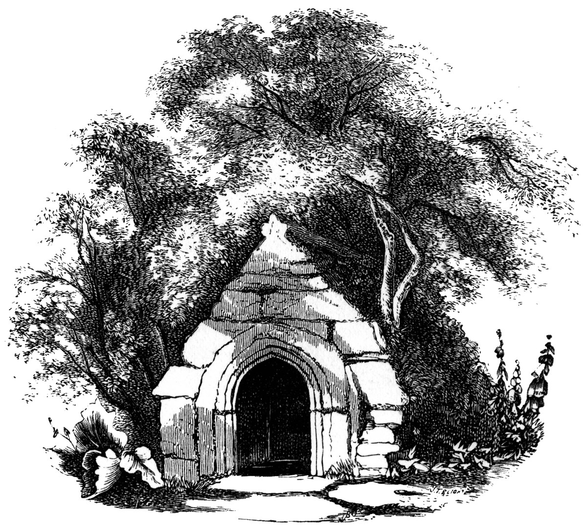 Holy Wells Near Newquay, Cornwall: Rialton Priory / Rialton Manor Holy Well. R Hope, 1893.