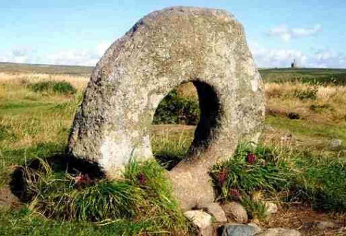 The Men An Tol Stone Circle Cornwall England An ancient and mysterious glimpse of England's past.