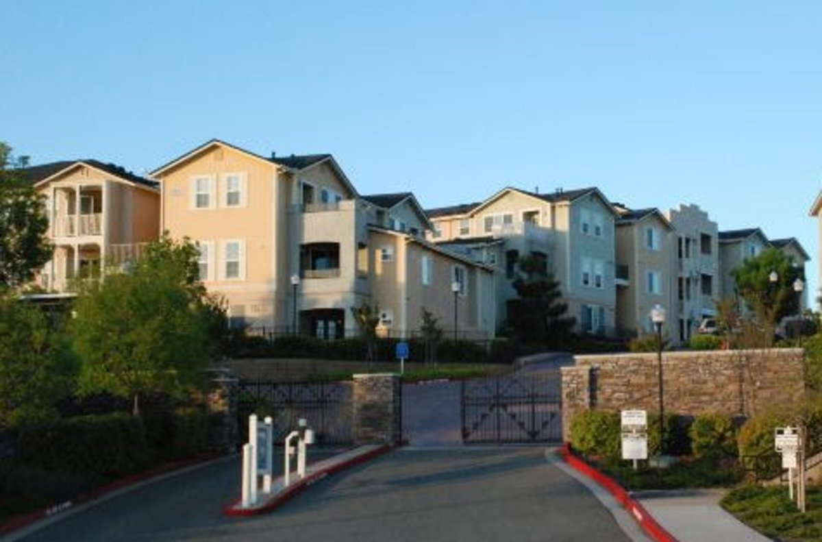 This is a reasonable facsimile of the apartment complex where I now reside.