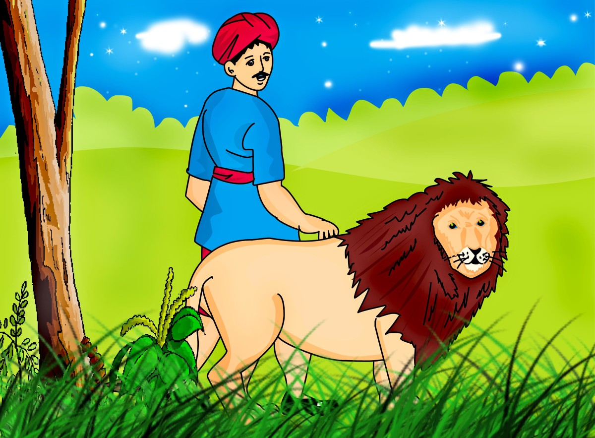 the-man-and-the-lion-aesops-fables-retold