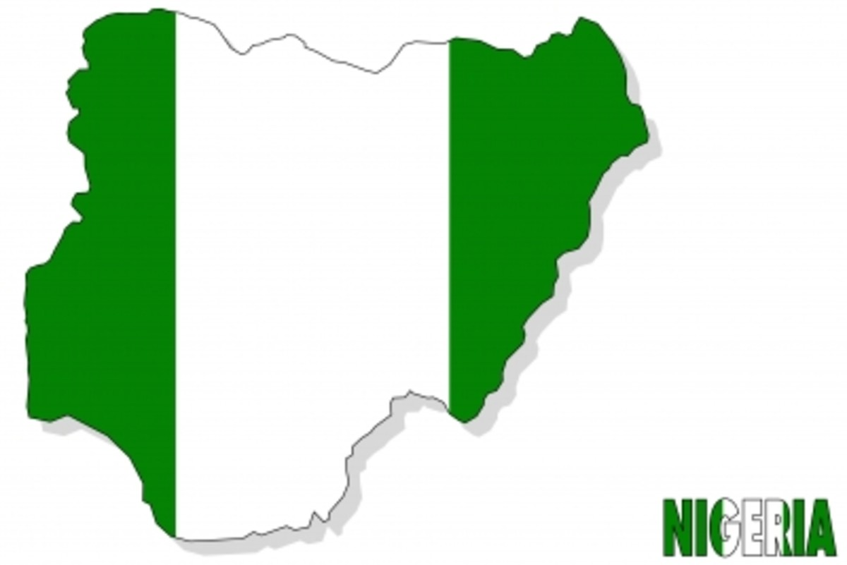 Nigeria, with Nigerian flag as background, by Ohmega1982