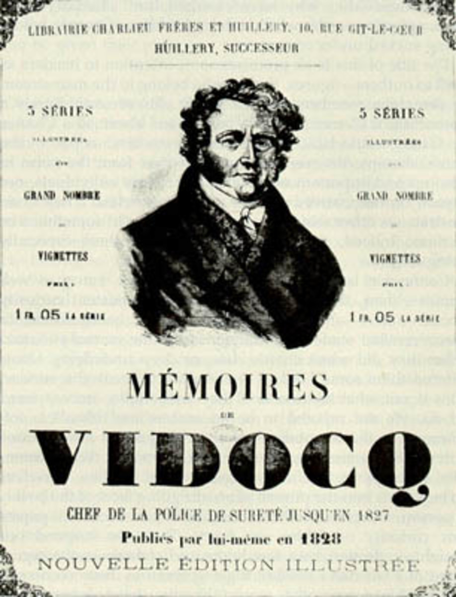 "Cover of the original French cover of ""Memoirs of Vidocq"""