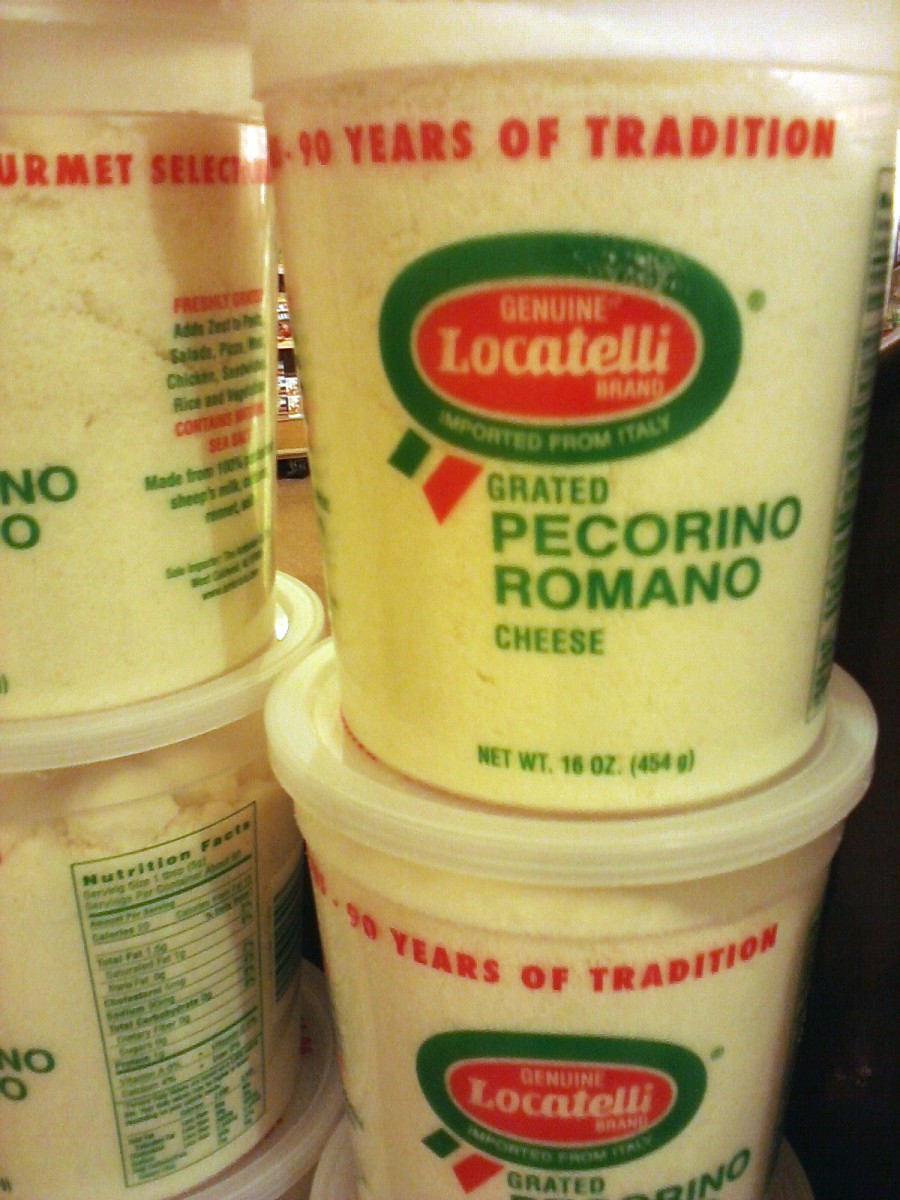 Italian Crumbled Pecorino Romano cheese