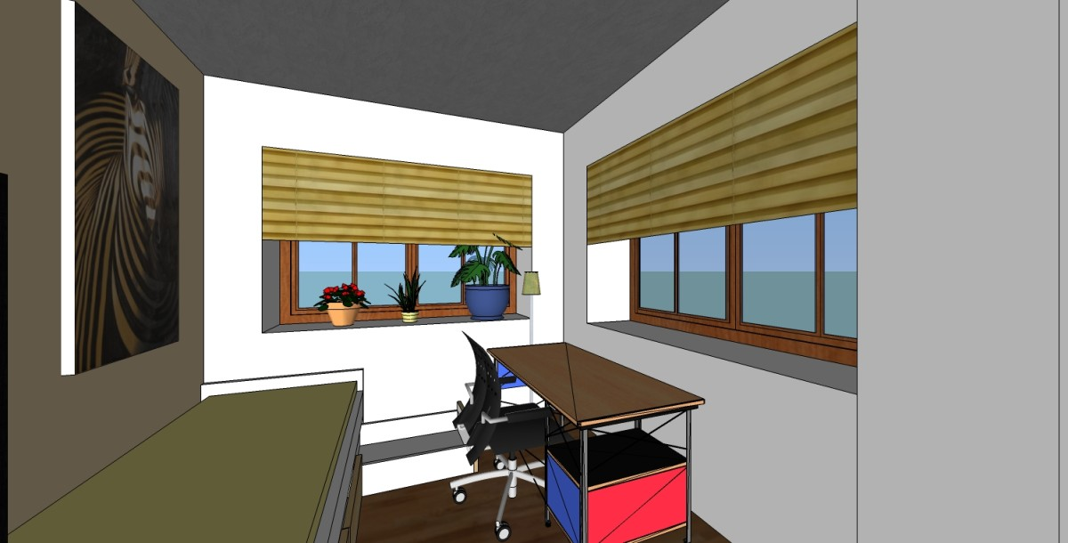 This room is 10 ft by 10 ft, and though small can be arranged optimally for a tenant.