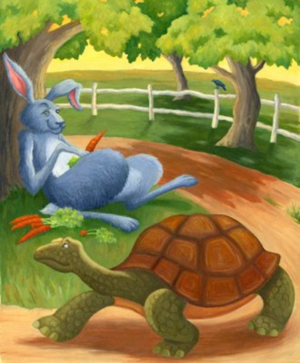 moral-stories-for-kids-the-hare-and-the-tortoise