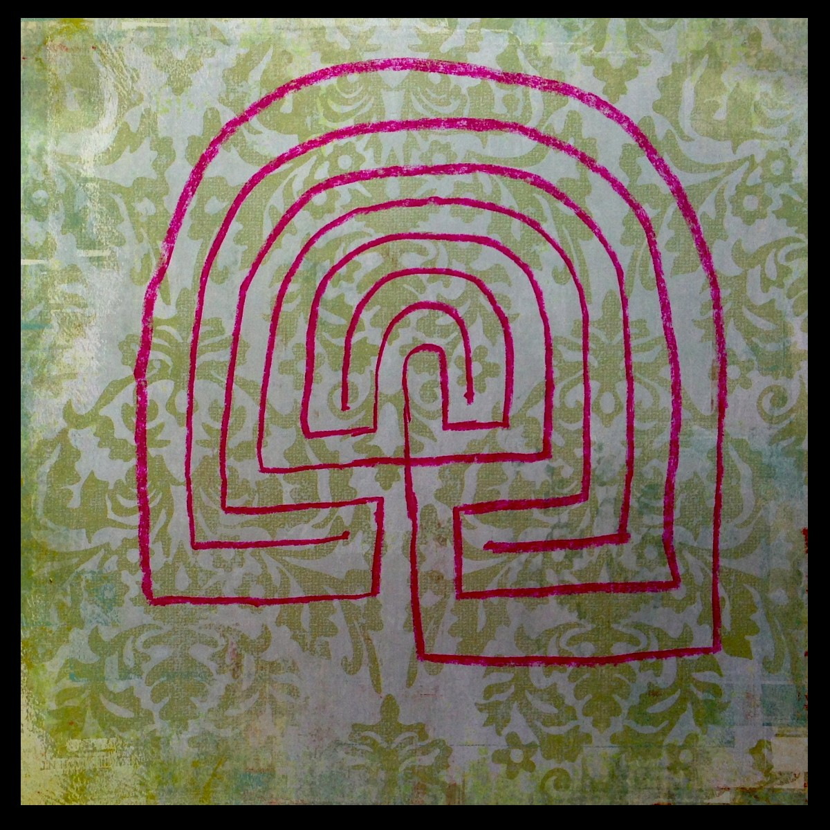 how to draw a labyrinth step by step