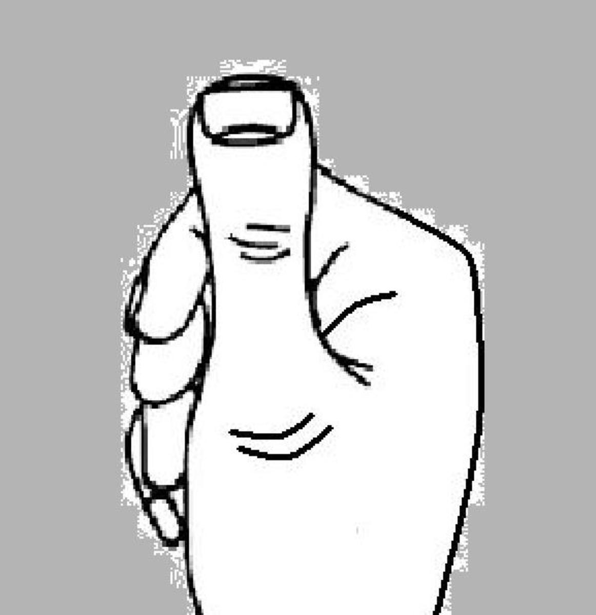 Clubbed or murderer's thumb in palm reading