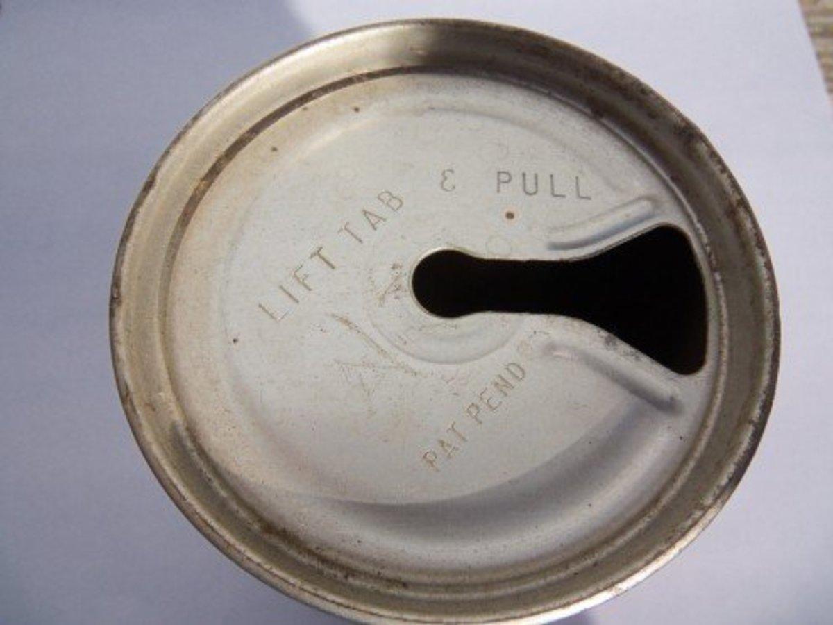 """The """"Zip"""" top beer can"""