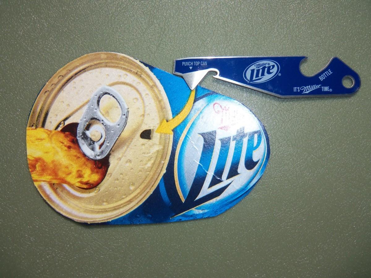Today's Miller Lite punch top can opener