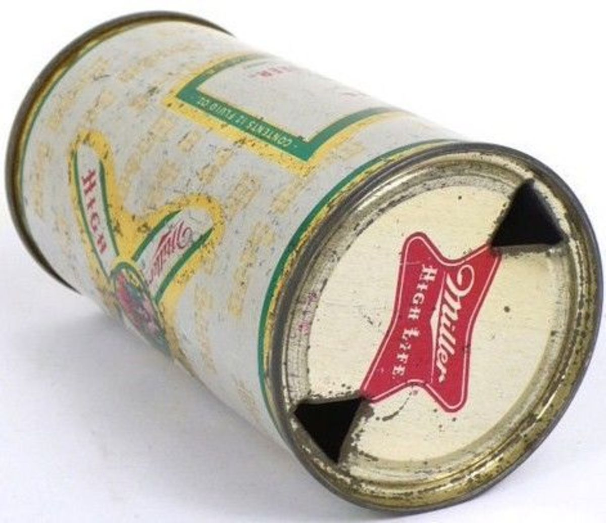 The flat top beer can
