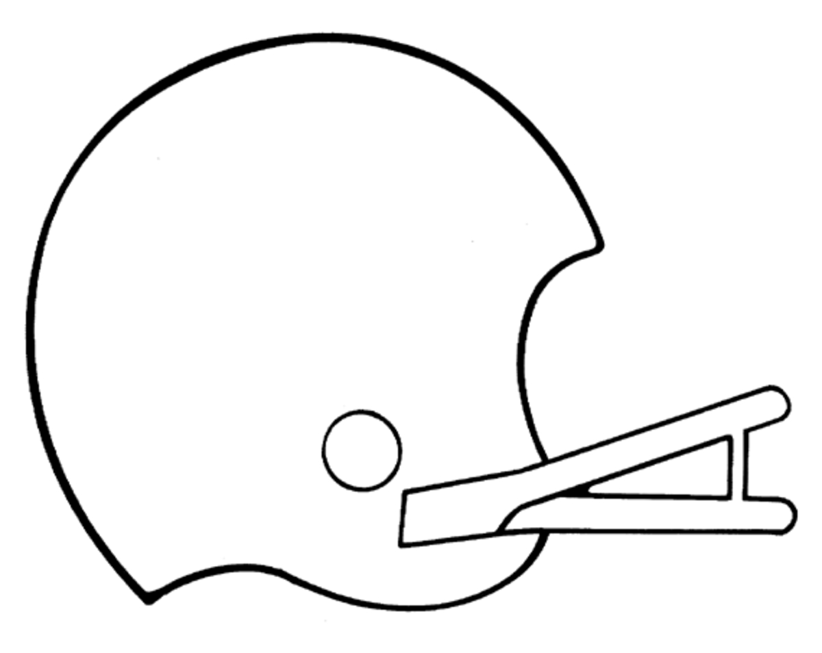 Football Helmet Sheet : Football coloring pages sheets for kids hubpages