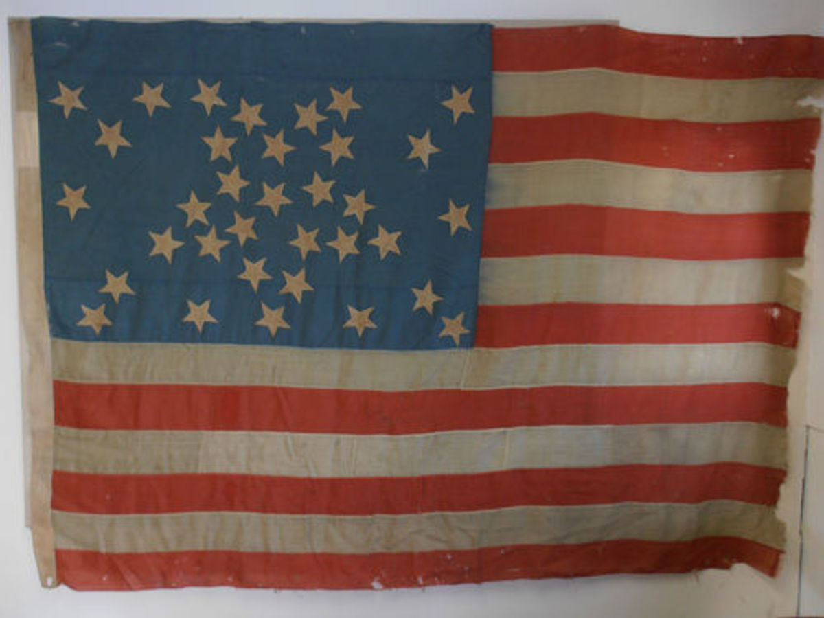 34 star flag of the United States of America