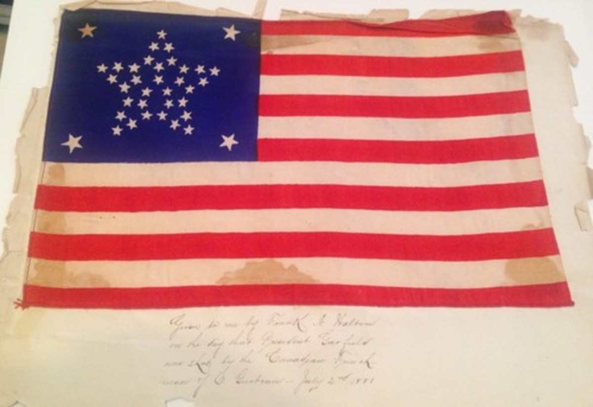 37 star silk American Flag