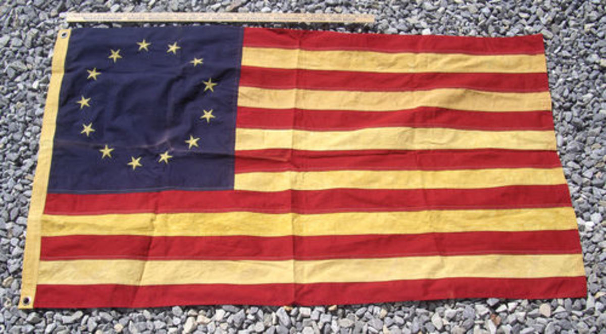 13 star Betsy Ross style flag