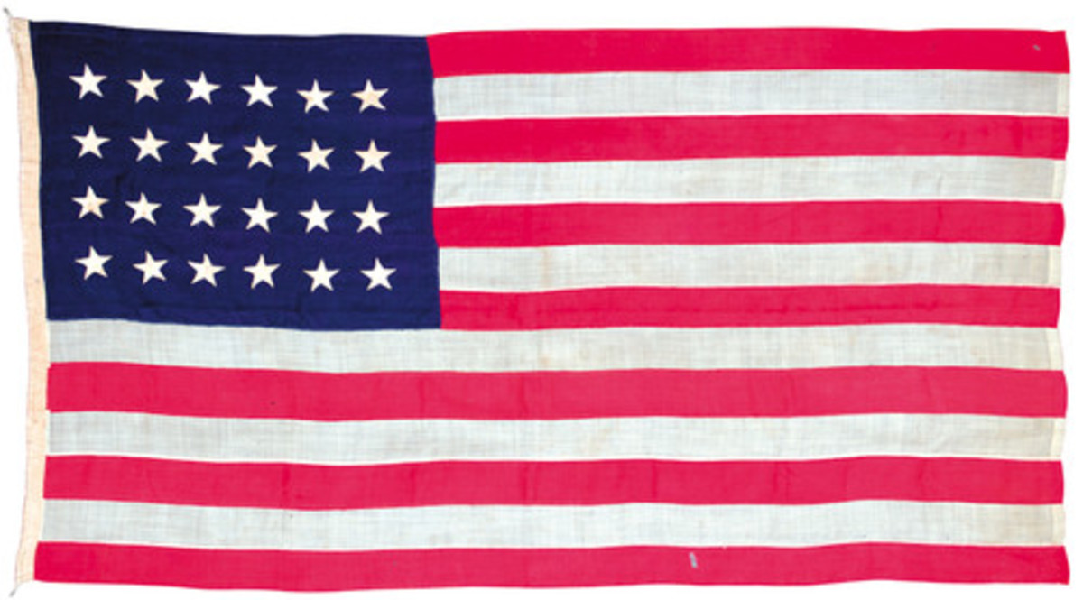 24 star American flag from 1820 found on eBay