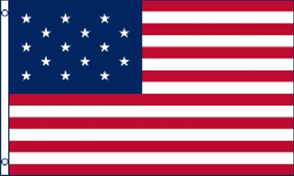 American Flag Commonly Referred to as the Star-Spangled Flag that Inspired Francis Scott Key's Song that Became the National Anthem of the United States of America