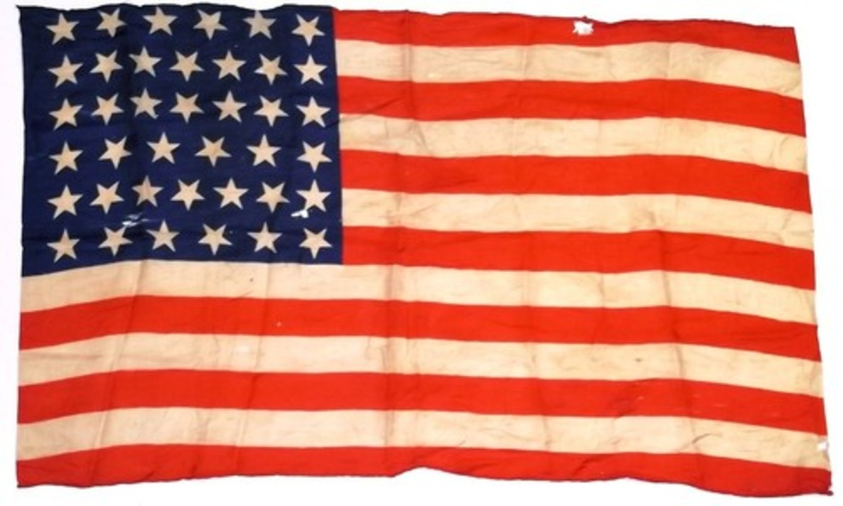 39 star North Dakota flag  of the United States of America 1889 silk