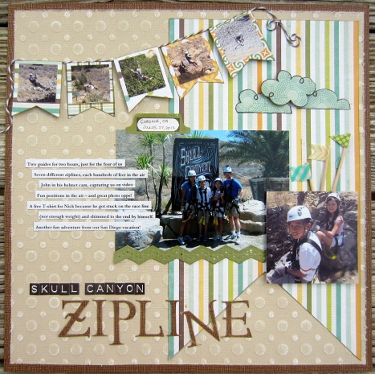 You can easily transform this scrapbook layout into a piece of hanging or tabletop framed art.