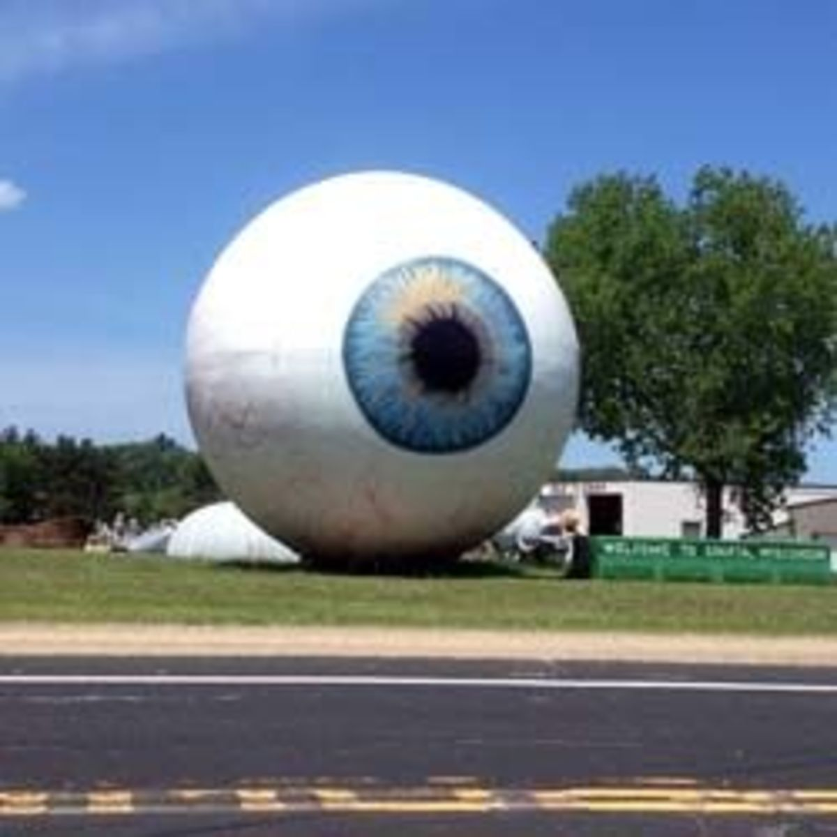 A Giant Eyeball on the Side of the Road in Sparta, WI