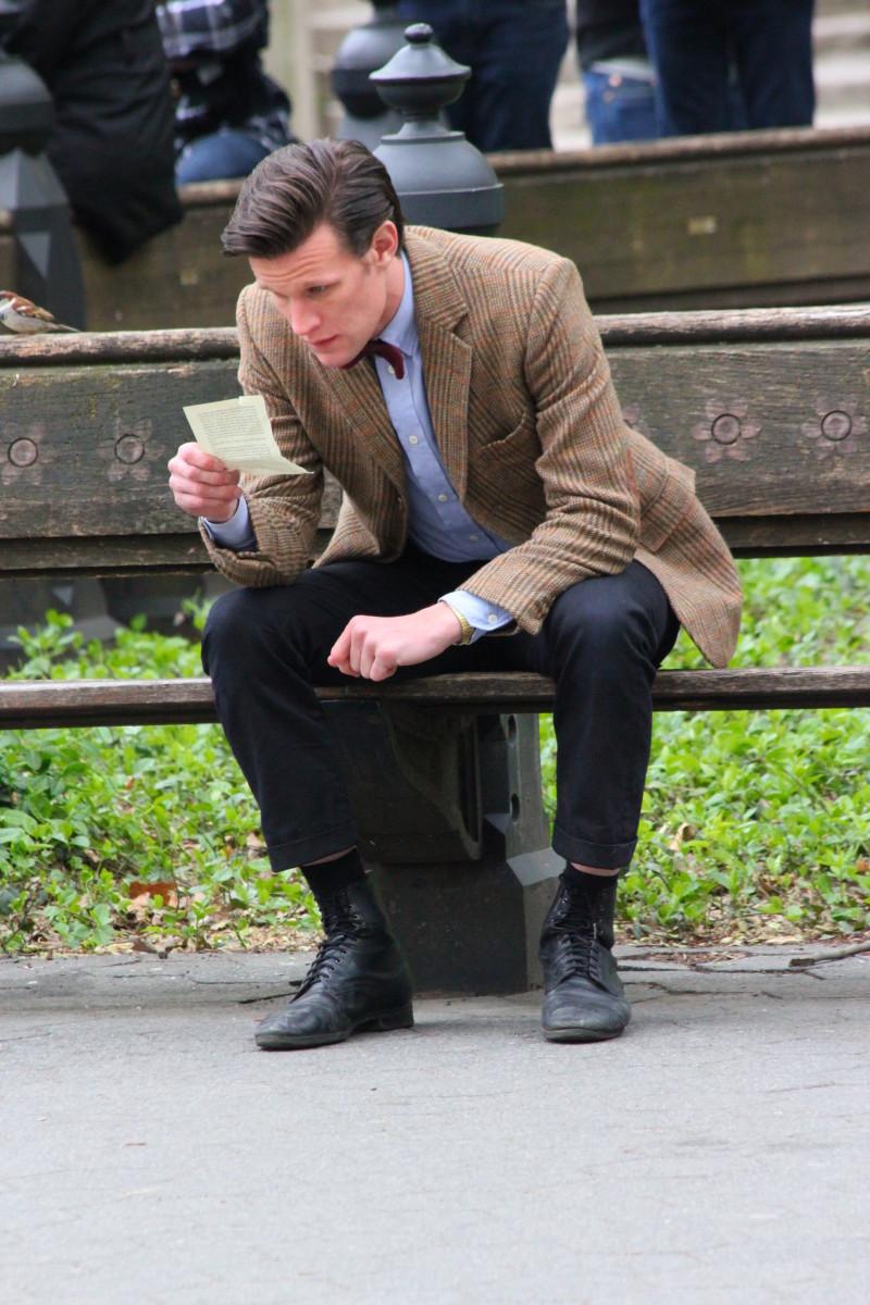 Matt Smith as the Eleventh Doctor.