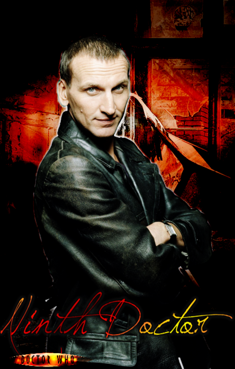 Christopher Eccleston as the 9th Doctor.