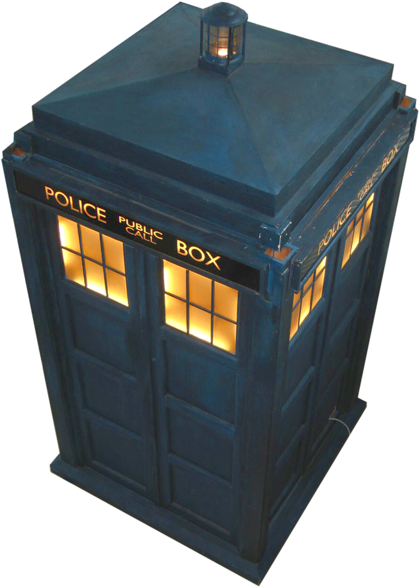 The Doctor's time machine, the TARDIS. TARDIS stands for Time And Relative Dimension In Space.