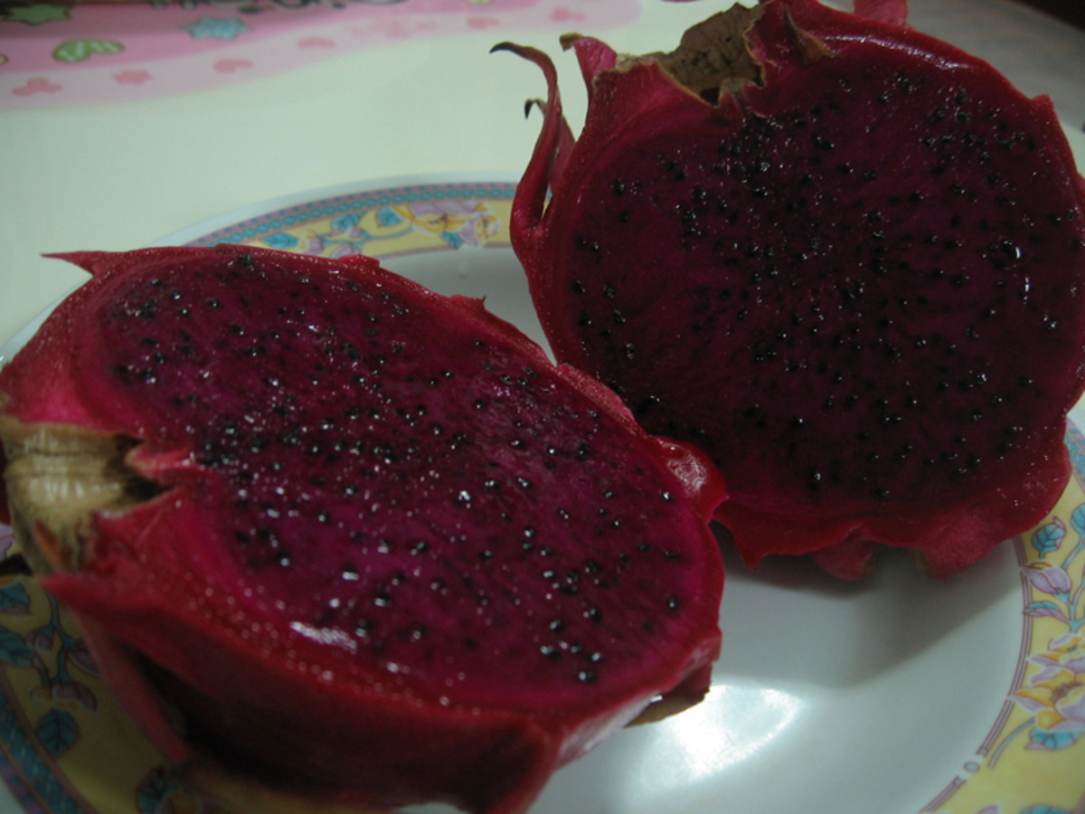 Red skinned, red fleshed dragon fruit