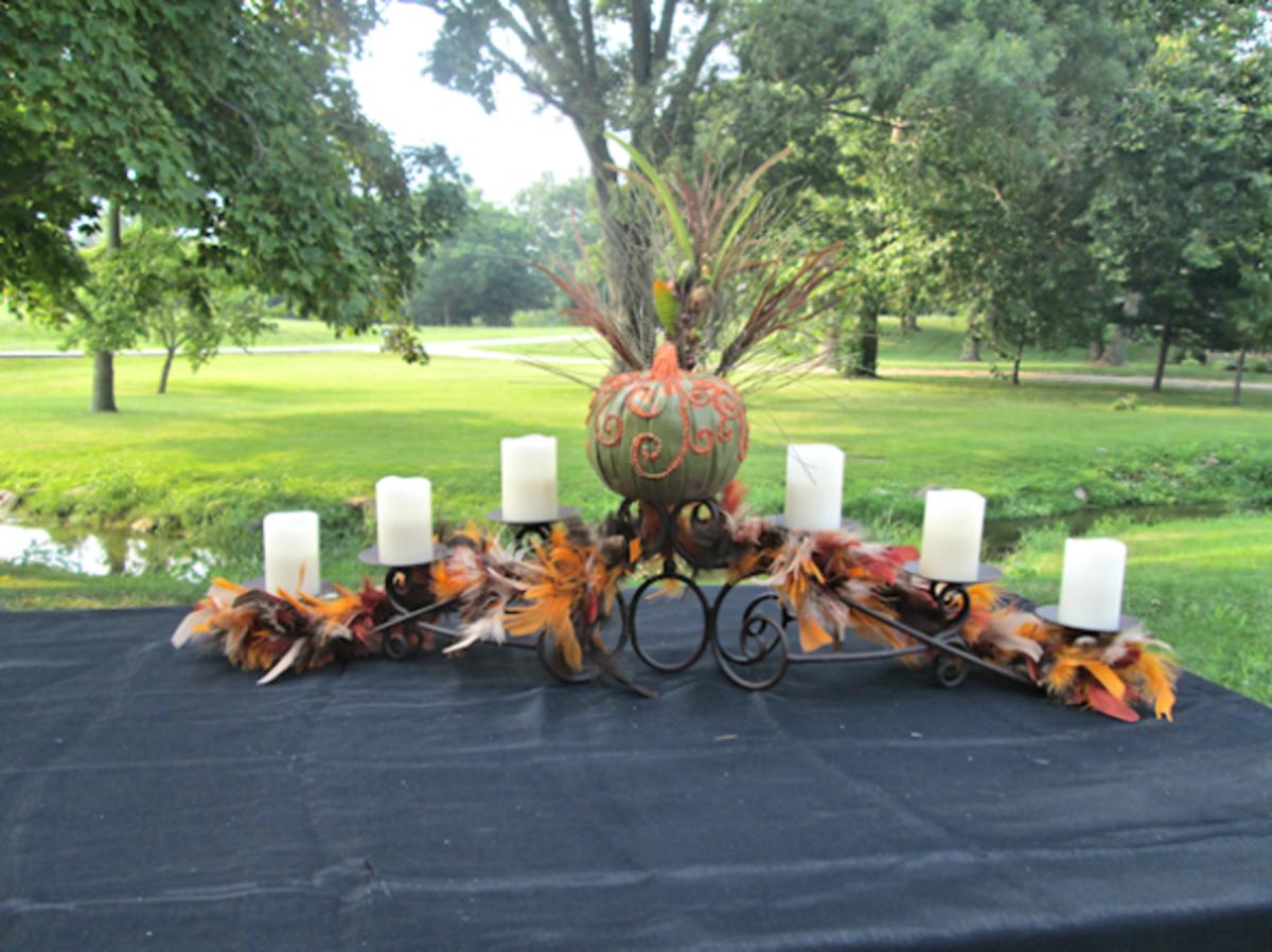 Harvest design candle holder