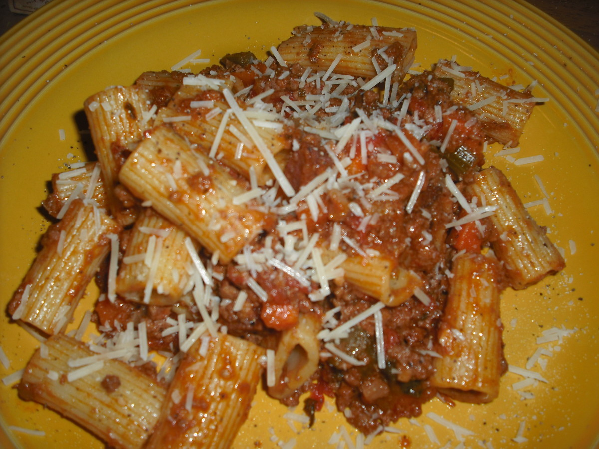 Homemade Bolognese sauce with a halal makeover!