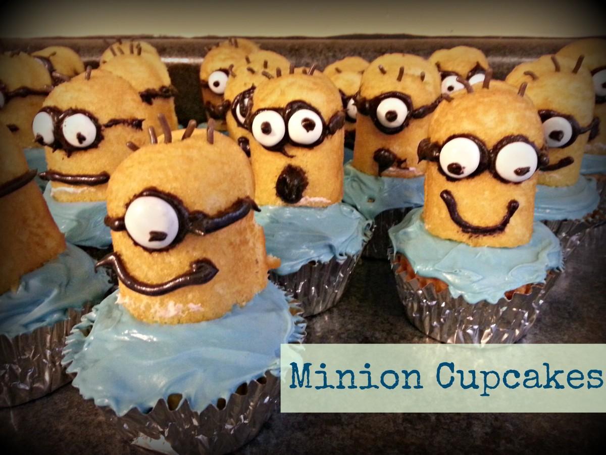Easy Minion Decorated Cupcakes