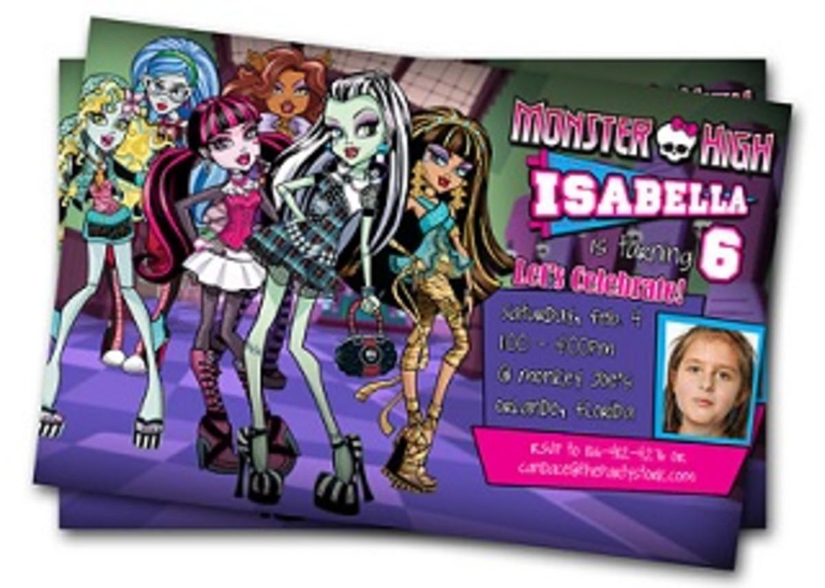 Monster High Photo Invites