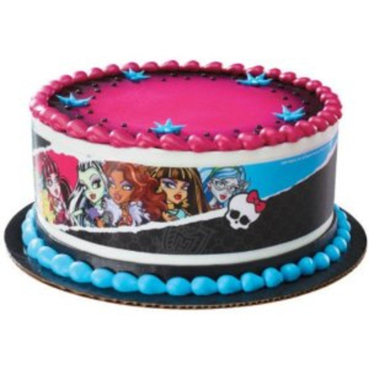Monster High edible cake topper