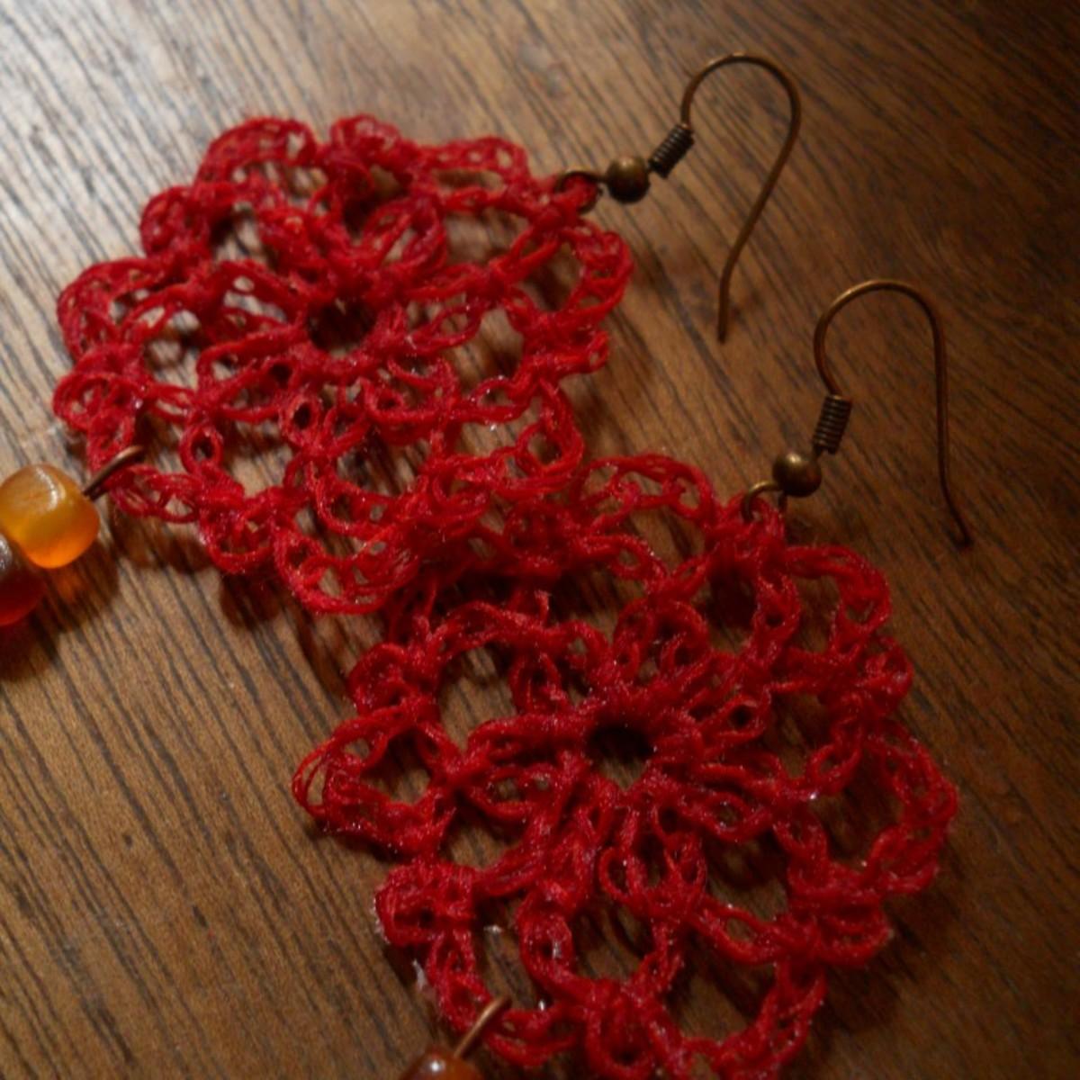 Crochet Circle Earrings 6