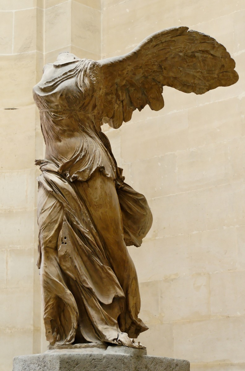 Photograph of the Winged Victory of Samothrace in the Louvre