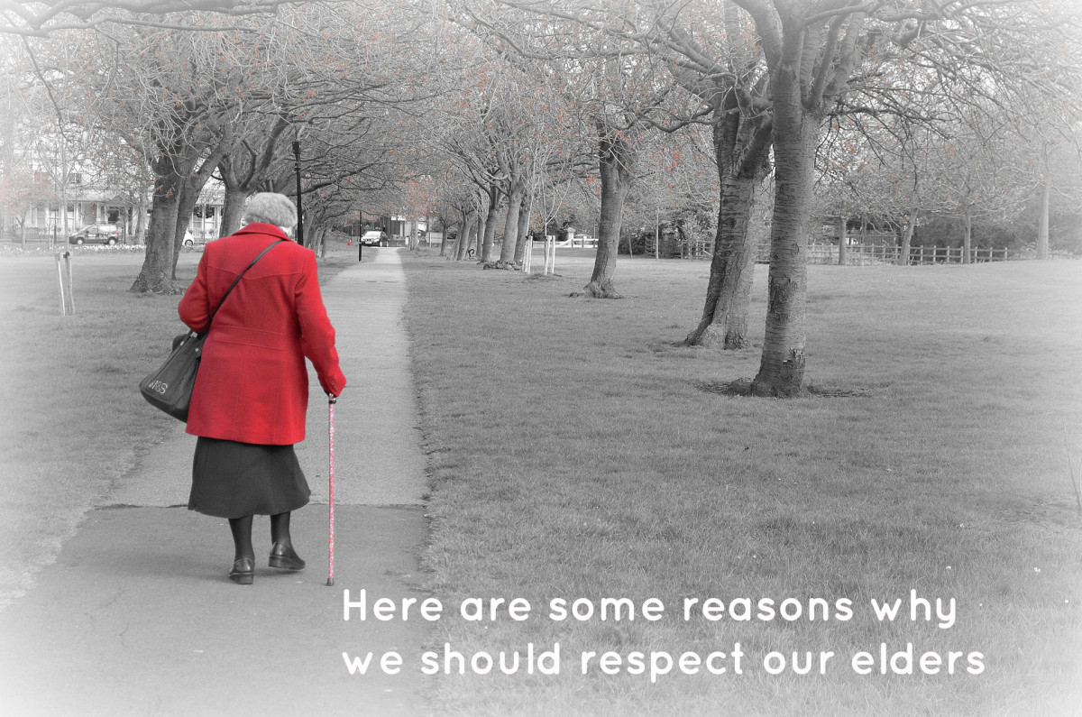 why should we respect our elders essay Essay on respect respect is really what we respect is a clue to what we want in life many people that are trying to attract good things into their life have one.