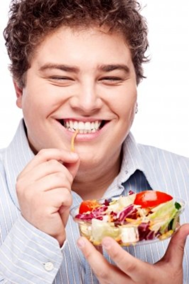 Give your daily diet a makeover - replace the burgers and fries with salads, fruits and green vegetables.