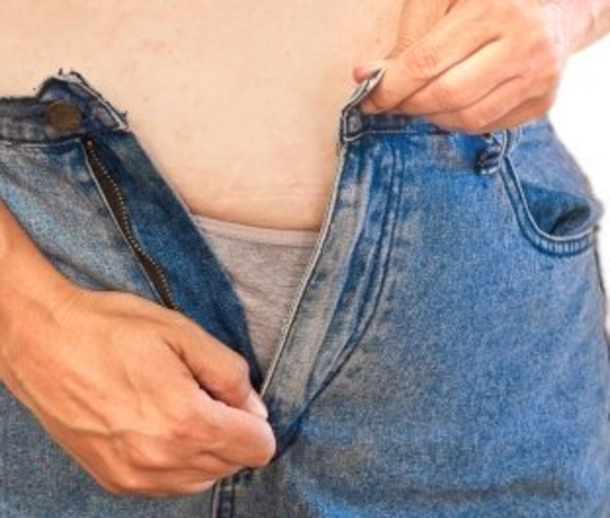 Gift your partner a pair of jeans that are actually a size smaller. Pretend that you weren't aware that his or her size had gone up recently.