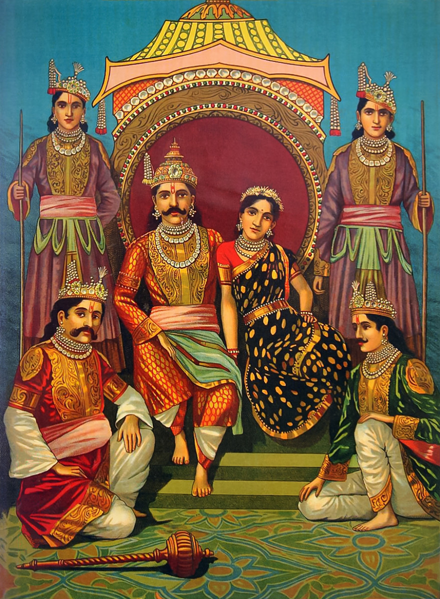 Draupadi and Pandavas, Mahabharata