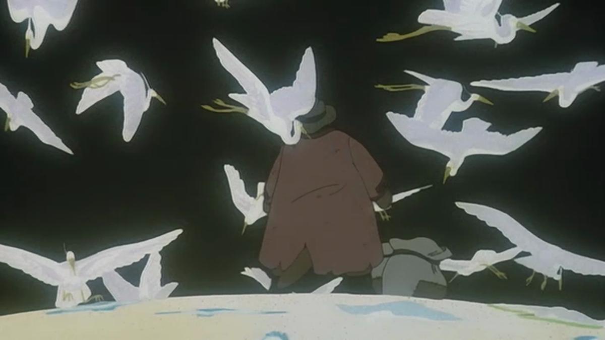 Herons, and the bird catcher.