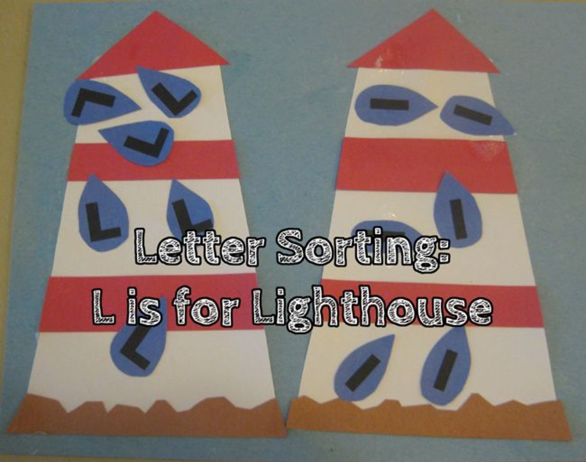 Letter Sorting L is for Lighthouse