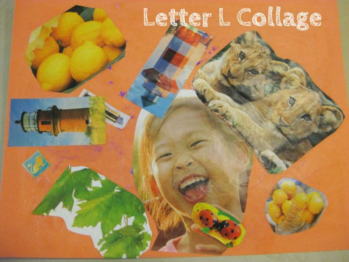 Letter L Collage Alphabet Activities