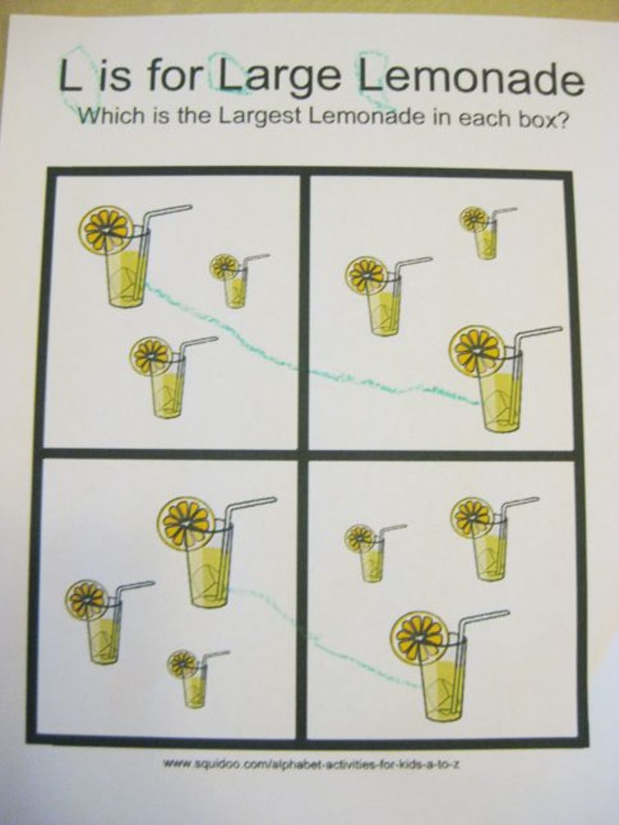 L is for Large Lemonade Alphabet Activities