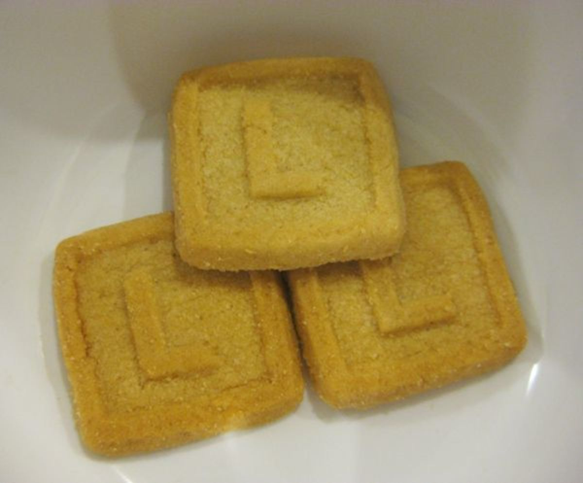 Letter L Cookies